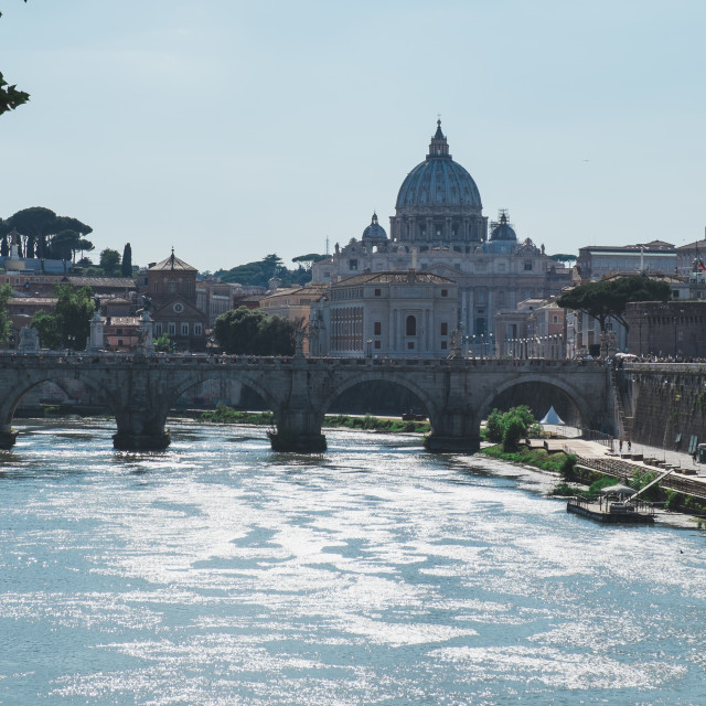 """Ponte Sant'Angelo"" stock image"