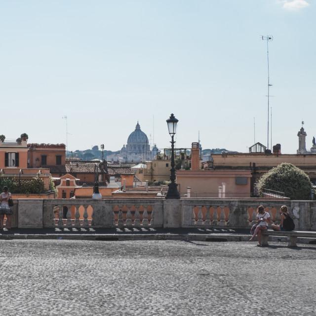 """Roman Piazza"" stock image"