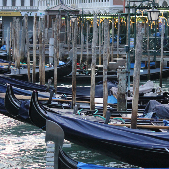 """Venetian Gondolas"" stock image"