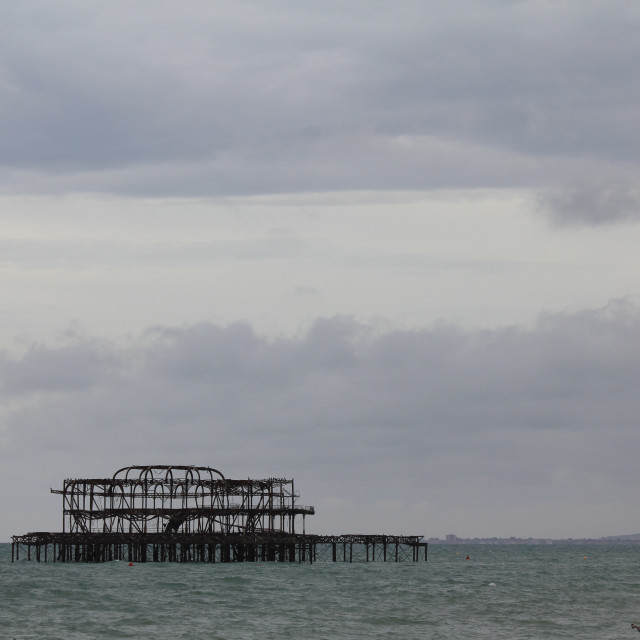 """""""Remains of Brighton West Pier"""" stock image"""