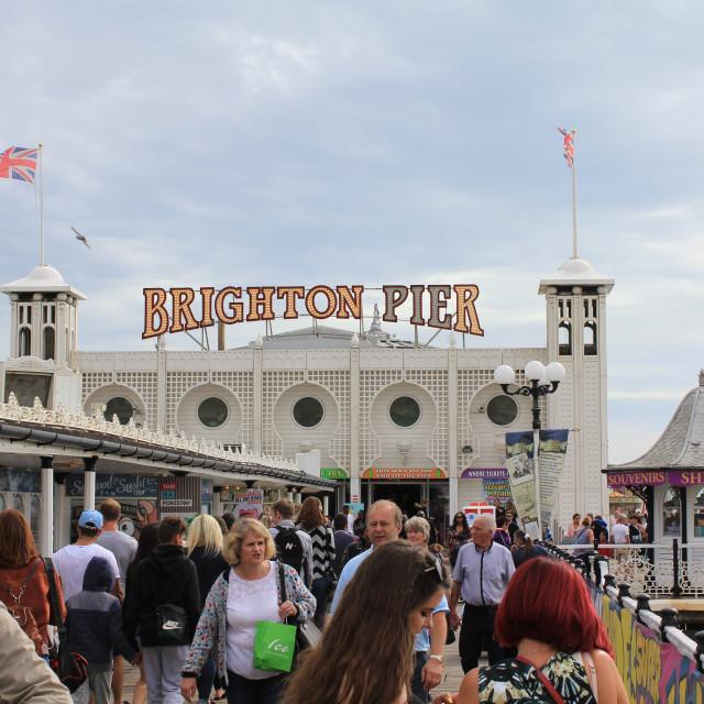 """A busy Brighton Palace Pier."" stock image"
