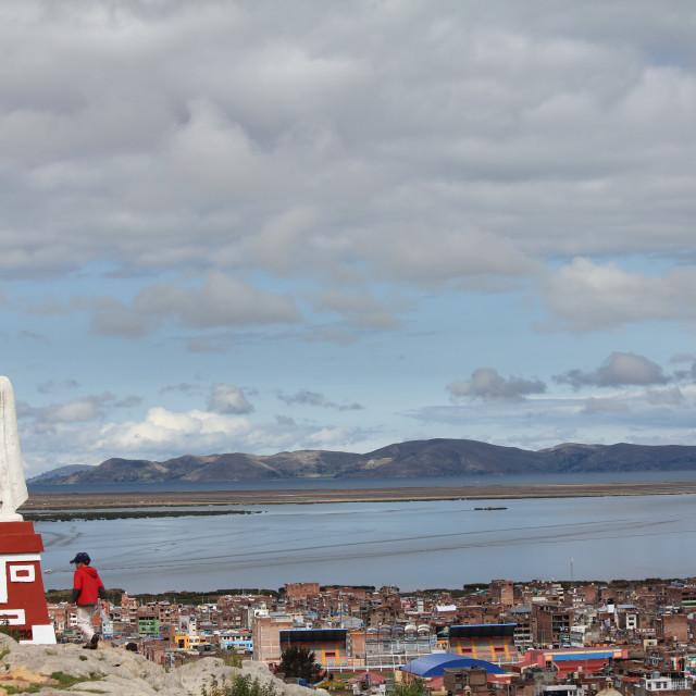 """Lake Titicaca"" stock image"