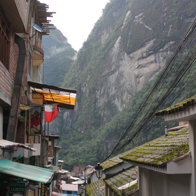 """""""Streets of Aguas Calientes"""" stock image"""