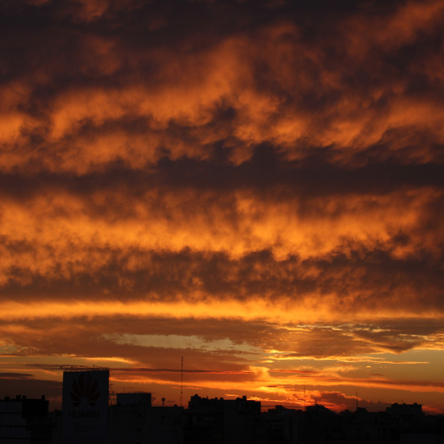 """""""Buenos Aires sunset"""" stock image"""