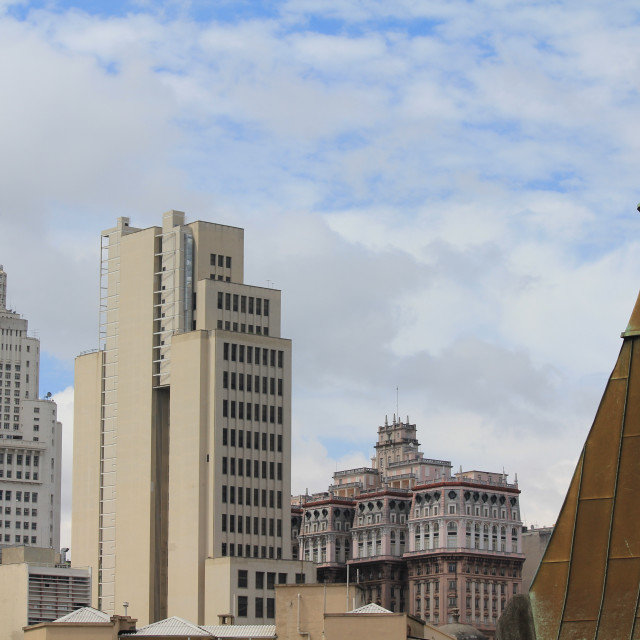 """""""Martinelli Building and Sao Paulo rooftops"""" stock image"""