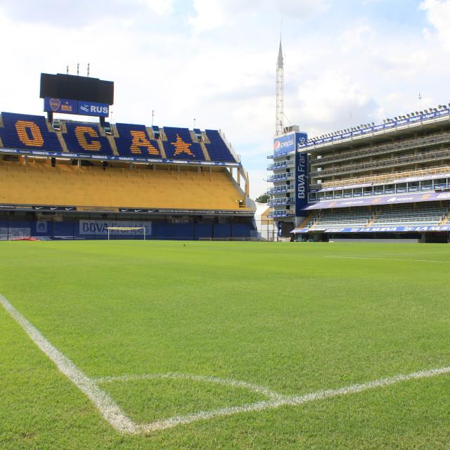 """""""Boca Juniors' Bombonera stadium."""" stock image"""