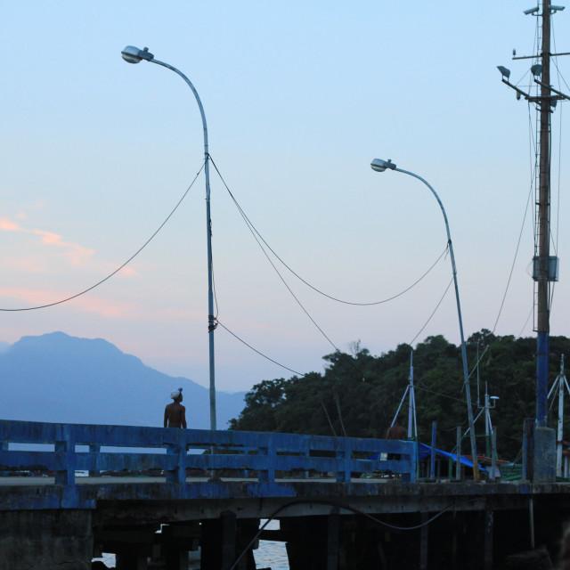 """Ilha Grande at dusk"" stock image"