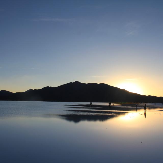 """""""Mirrors on the Uyuni Salt Flats"""" stock image"""