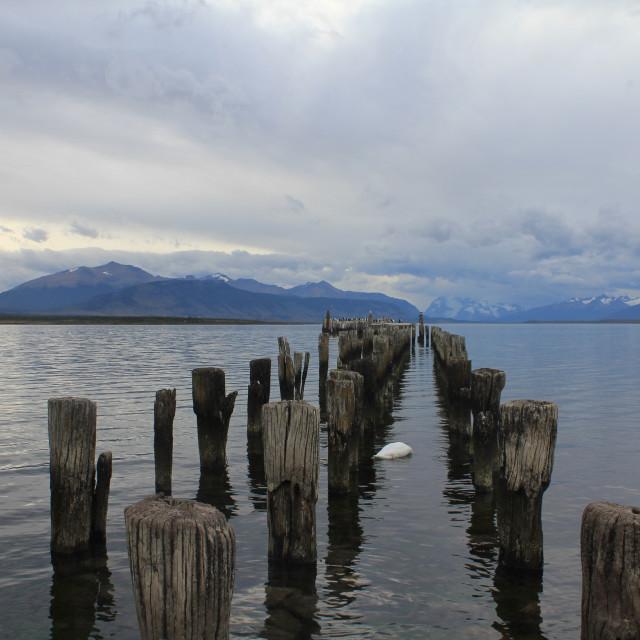 """""""Pier in Puerto Natales"""" stock image"""