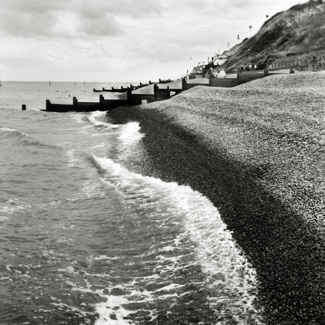 """Seafront at Sheringham, Norfolk"" stock image"