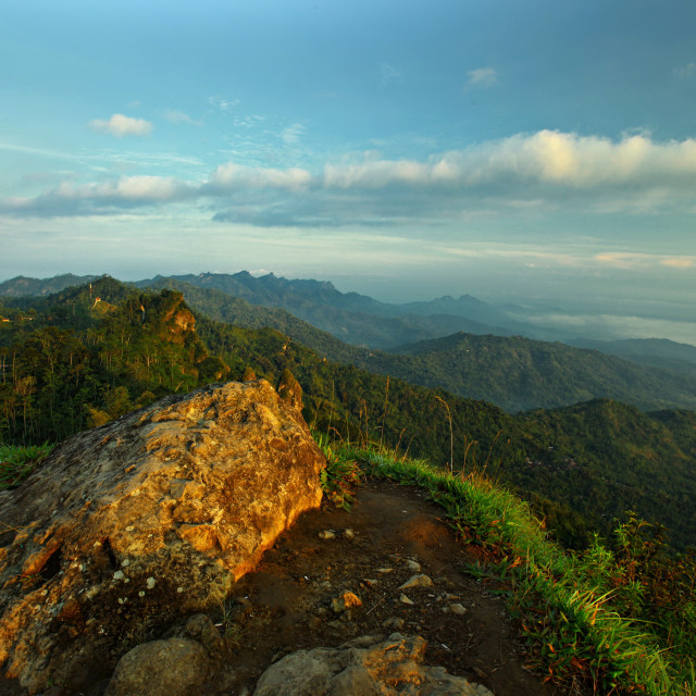 """Top view from suroloyo highland"" stock image"