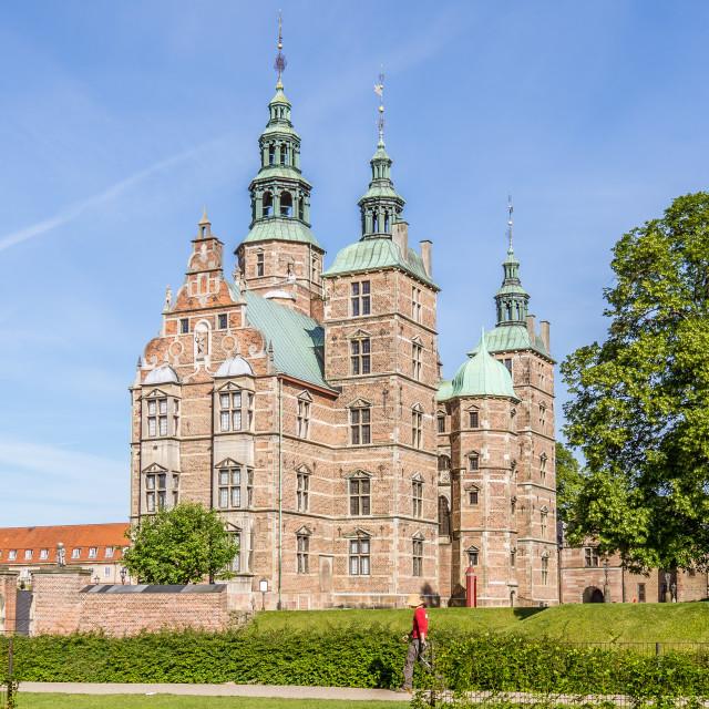 """""""Rosenborg castle in Copenhagen"""" stock image"""