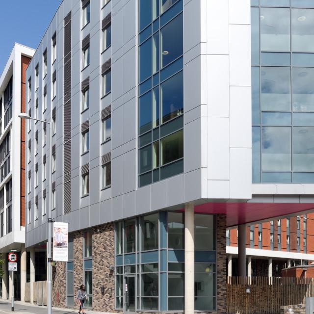 """""""Nottingham Trent University Cladding,UK."""" stock image"""