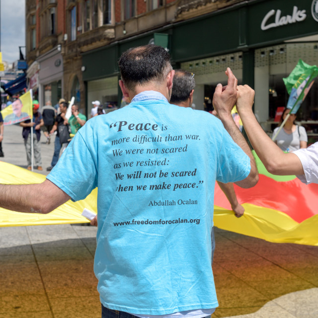 """Kurdish Protest In Nottingham,UK."" stock image"