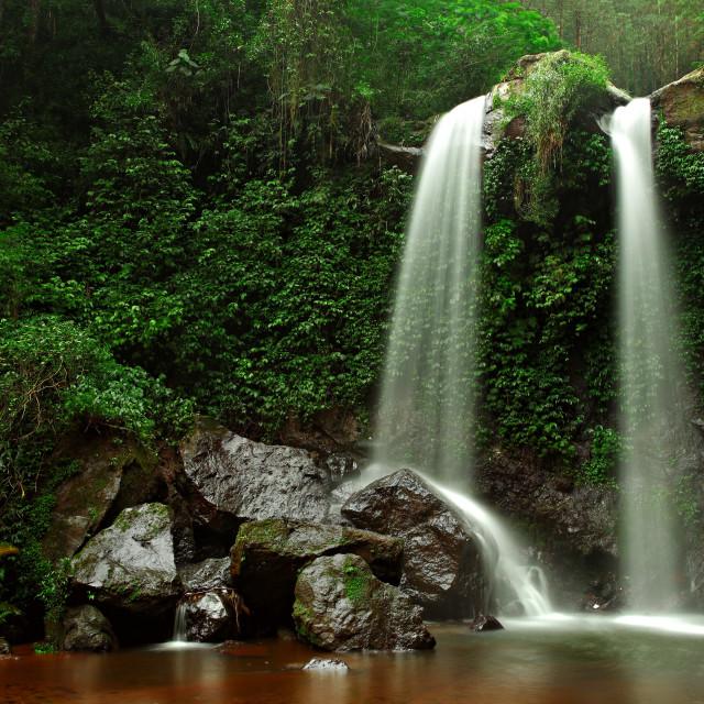 """""""Grenjengan Kembar Waterfall"""" stock image"""