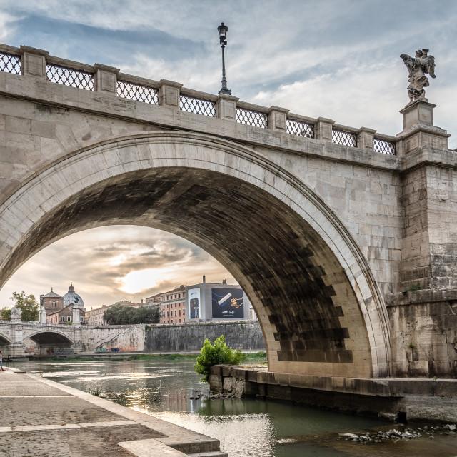 """Castel Sant Angelo and bridge"" stock image"