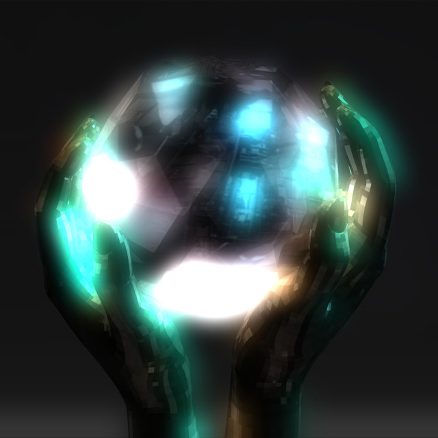"""""""3D Illustration of a Crystal Ball"""" stock image"""