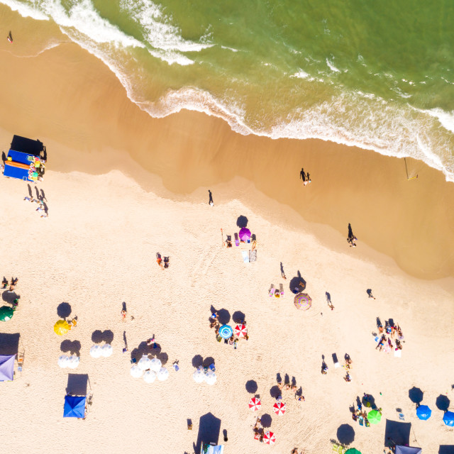 """""""Top View of a beach"""" stock image"""