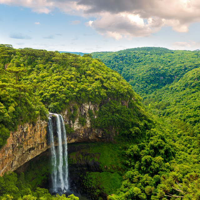 """Waterfall in Caracol Park in Rio Grande do Sul, Brazil"" stock image"