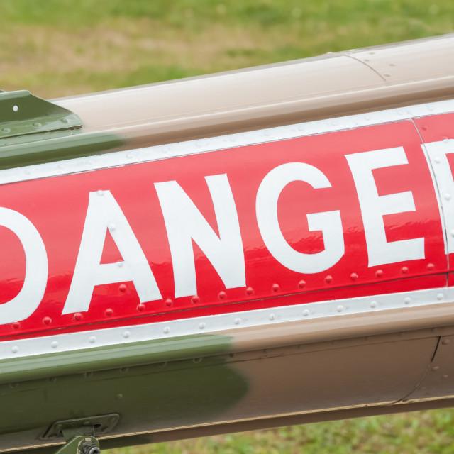 """""""danger sign closeup"""" stock image"""