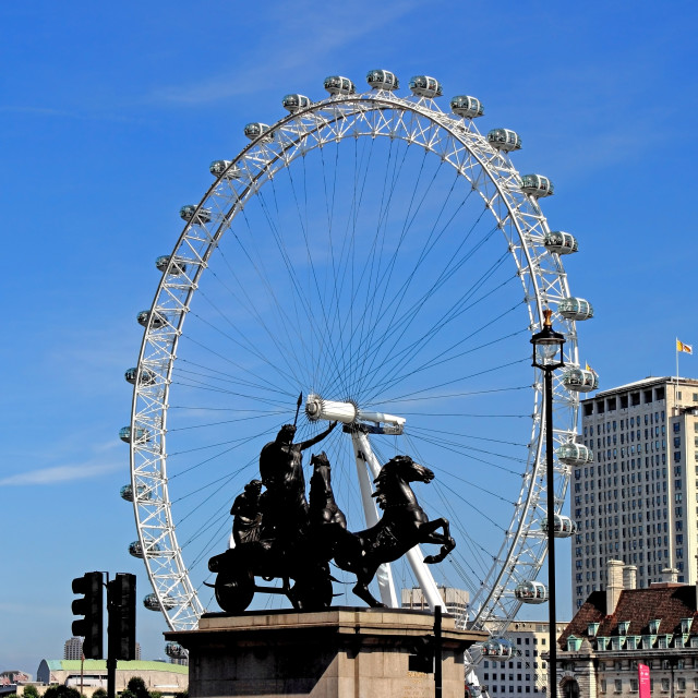 """""""Boadicea supporting the eye"""" stock image"""