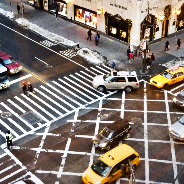 """Fifth Avenue Junction"" stock image"