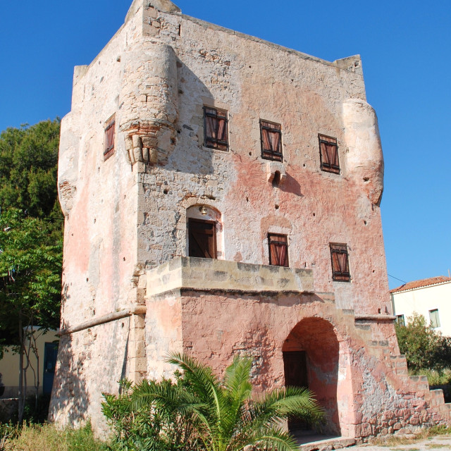"""The Markellos Tower, Aegina"" stock image"