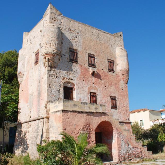 """Markellos Tower, Aegina island"" stock image"