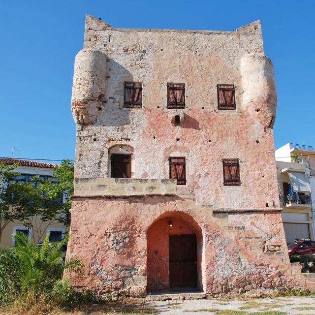 """Markellos Tower, Aegina Town"" stock image"