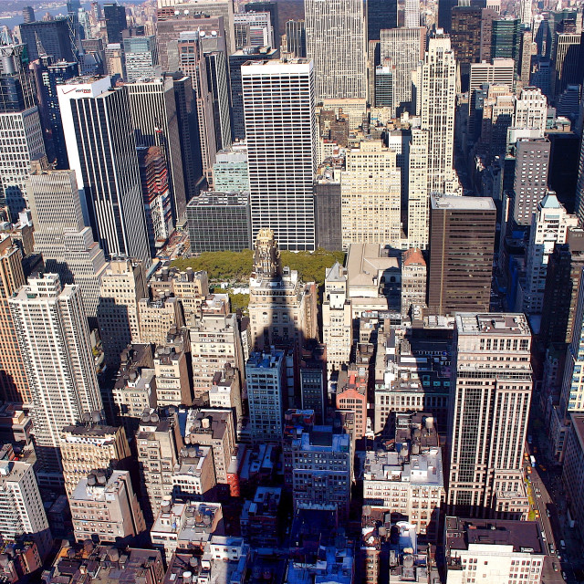 """Manhattan looking down from Empire State Building"" stock image"