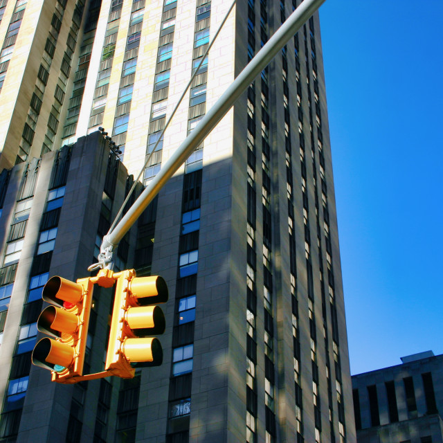 """New York traffic light"" stock image"