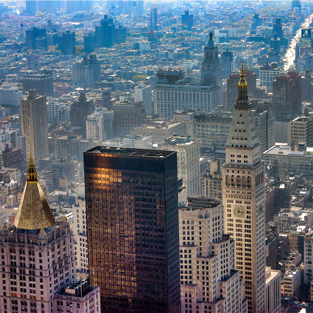 """New York from the Empire State Building"" stock image"