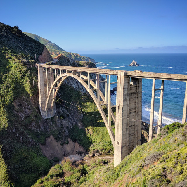 """Early Morning at Bixby Bridge"" stock image"