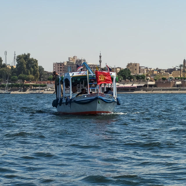 """felucca on the nile"" stock image"