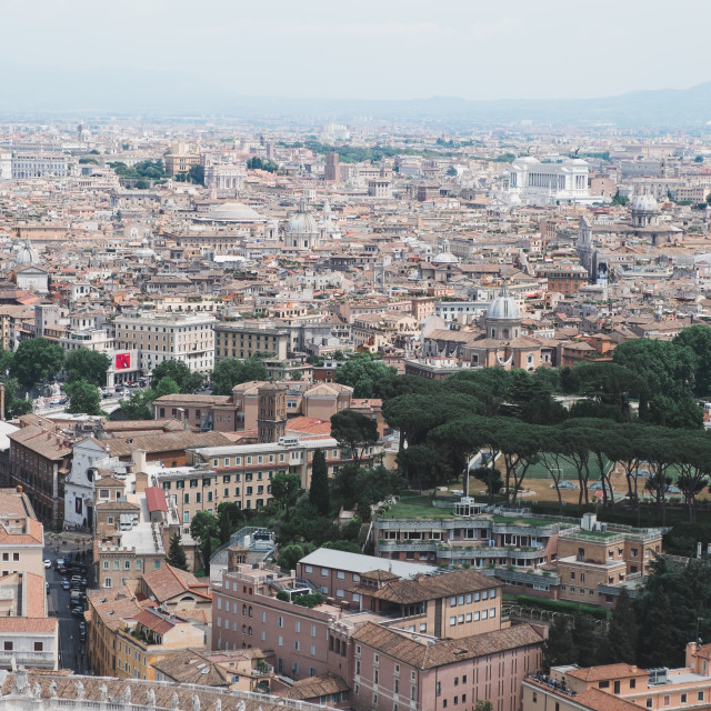 """""""View over Rome"""" stock image"""