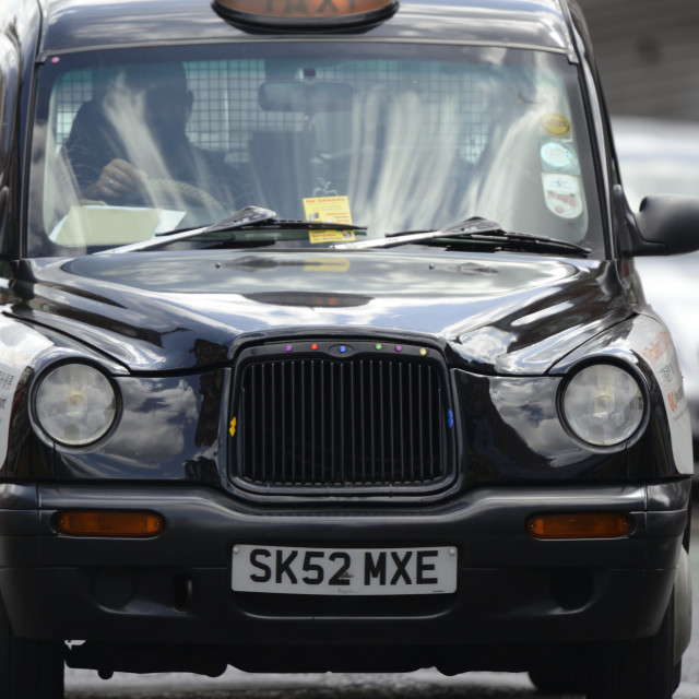 """Black Cab"" stock image"