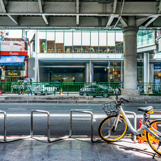 """Bicycle Parking"" stock image"