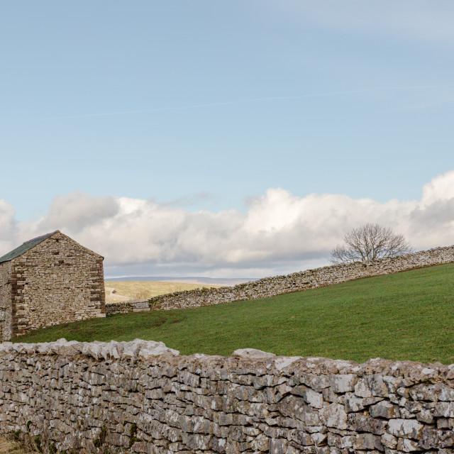 """Stone barn"" stock image"