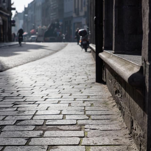 """""""Wollestraat"""" stock image"""