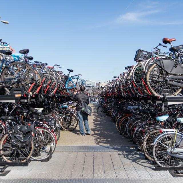 """Bicycle parking"" stock image"