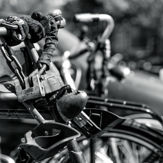 """Rusty bike"" stock image"