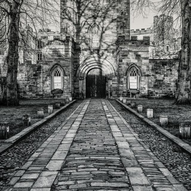 """Durham castle"" stock image"