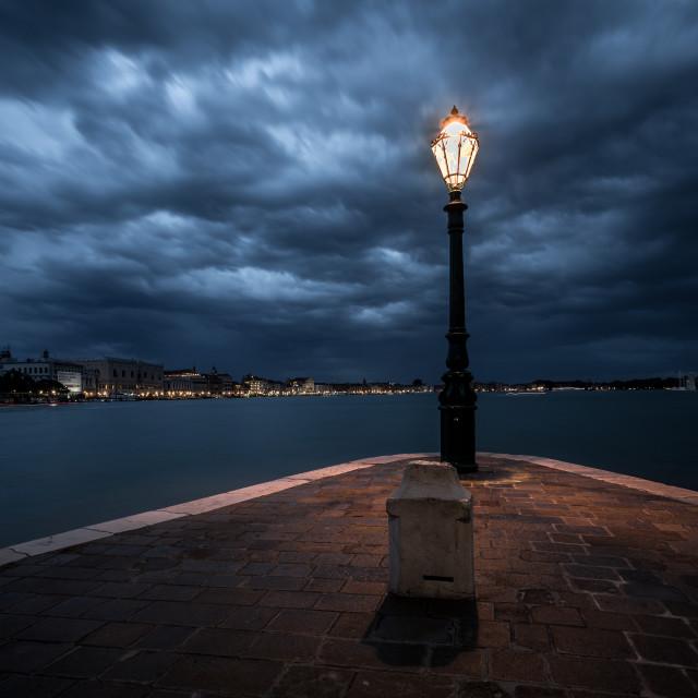 """""""San Marco and San Giorgio Maggiore from Dorsoduro"""" stock image"""