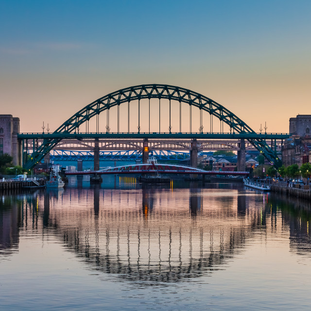 """Tyne Bridges"" stock image"