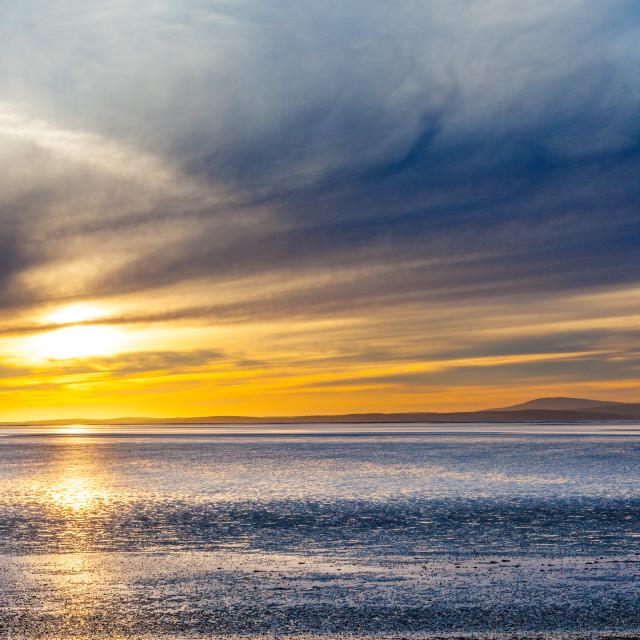"""Morcambe sunset"" stock image"