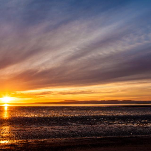 """""""Morecambe bay sunset"""" stock image"""