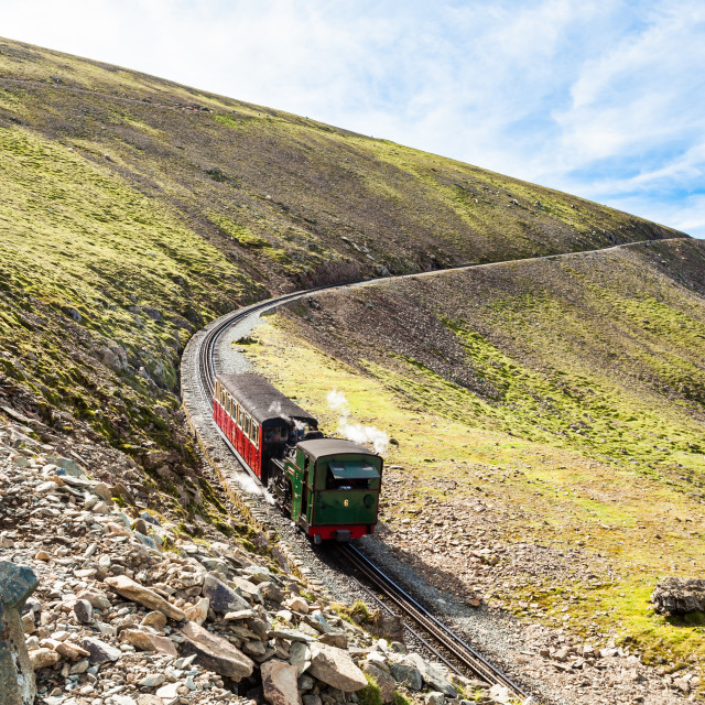 """Snowdon mountain railway"" stock image"