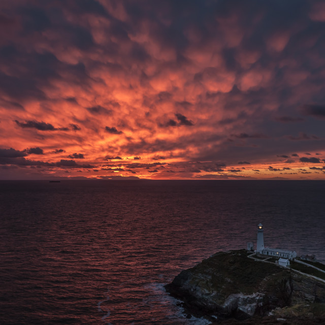 """""""South Stack Sunset"""" stock image"""