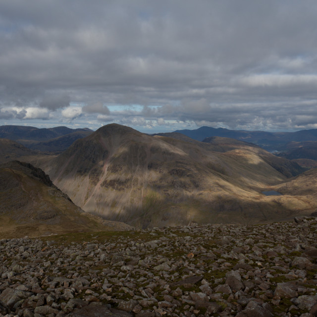"""""""View from Scafell Pike"""" stock image"""