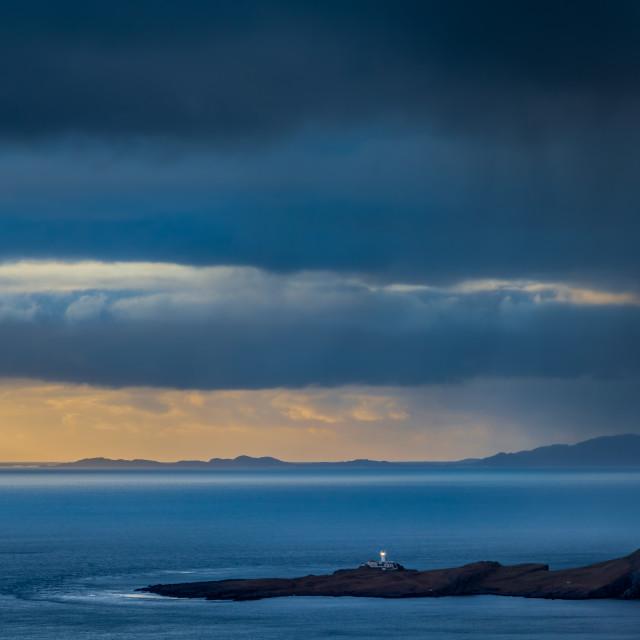 """Neist Point Lighthouse, Skye"" stock image"
